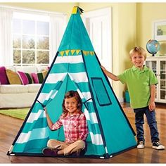 Kids Adventure Playhouse Teepee Tent Toy Play Tipi Fort Portable Easy Assembly