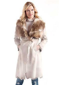 56b0e808be1 oversized shawl collar faux micro suede with faux rabbit fur machine wash  cold Faux Shearling Coat