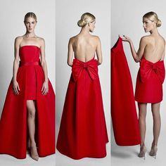 The Bow-back Mini Dress with Convertible Skirt by Alexia Maria