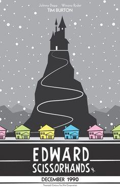 Edward Scissorhands. L'affiche de cinema/ détournements/ résumé/ réalité/ fiction/ narration/