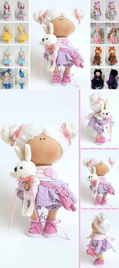 Soft Doll Nursery Doll Textile Doll Tilda Doll Handmade Doll