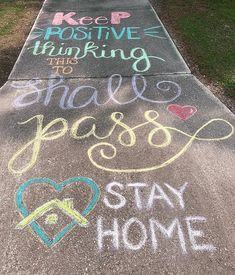Who wants to participate in Chalk Your Walk/Stay Positive? Lets brighten everyones day! 3d Street Art, Street Art Graffiti, Graffiti Artists, Sidewalk Chalk Art, New York Graffiti, Chalk Design, Chalk It Up, Chalk Drawings, Graffiti Lettering