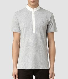 AllSaints Mens Polos | Short & Long Sleeved, Sandringham Polo Shirts