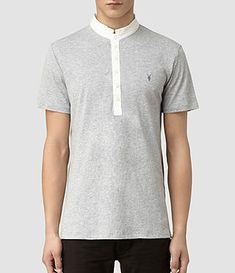 AllSaints Mens Polos   Short & Long Sleeved, Sandringham Polo Shirts