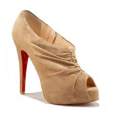 Cheap Christian Louboutin Treopli - 120mm Velour Ankle Boots Camel