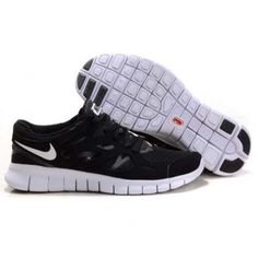 sports shoes d235b 0c724 Billig Hot salg Dame Nike Free Run Plus 2 Svart Hvit Tokyo Fashion, Milan  Fashion