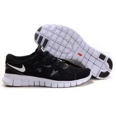sports shoes 61d00 b4b83 Billig Hot salg Dame Nike Free Run Plus 2 Svart Hvit Tokyo Fashion, Milan  Fashion