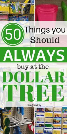 of the stores you should always be shopping at! If you are wondering what to buy at the Dollar Tree check out this amazing list of everyday items. You will never have to shop anywhere else again. Dollar Store Hacks, Dollar Store Crafts, Dollar Stores, Dollar Tree Store, Save Money On Groceries, Ways To Save Money, Money Tips, Groceries Budget, Dollar Tree Organization