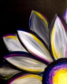 Daisy Painting, Easy Canvas Painting, Simple Acrylic Paintings, Acrylic Painting Techniques, Diy Canvas Art, Art Paintings, Painting & Drawing, Painting Flowers, Acrylic Canvas