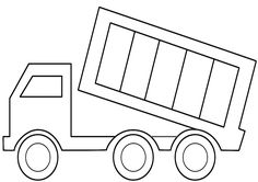Print Dump Truck Coloring Page coloring page & book. Your own Dump Truck Coloring Page printable coloring page. With over 4000 coloring pages including Dump Truck Coloring Page . Easy Coloring Pages, Truck Coloring Pages, Free Printable Coloring Pages, Coloring Pages For Kids, Coloring Sheets, Coloring Books, Kids Coloring, Truck Crafts, Construction For Kids