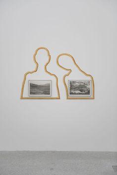 Roni Horn, Strùtur, Iceland, 1992 e/und/and Kverkfjöl, Iceland 1991, Collezione/Sammlung, Enea Righi. Rahmen Cornice Frame: Salvador Dalì, Couple aux tetes pleines de nauges, 1936, Museum Boijmans von Beuningen, Rotterdam.