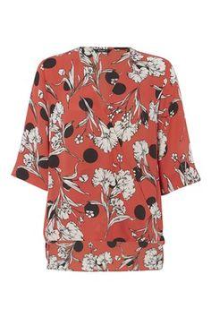 Vibrant Floral Wrap Over Blouse - http://www.romanoriginals.co.uk/invt/90306