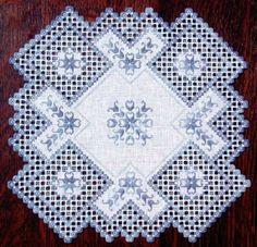 Williamsburg Winter Hardanger Doily by Cindy Valentine Designs - I love cutwork!