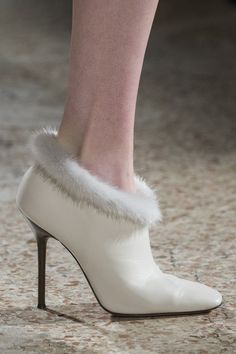 Blumarine at Milan Fashion Week Fall 2017 - Details Runway Photos Ugg Boots Cheap, Runway Shoes, Prom Heels, Sock Shoes, White Shoes, Beautiful Shoes, Me Too Shoes, Stiletto Heels, Vogue