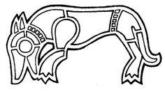 Anglo Saxon Art Patterns - Hound?