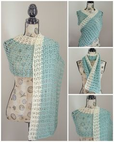 Ocean Breeze Light Summer Wrap, free crochet pattern by Amy Ramnarine on Stitch and Unwind