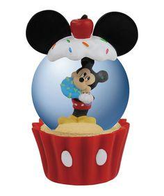 Cupcake Mickey Snow Globe