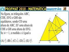 Na figura, os triângulos ABC, CDE, EFG e GHI são equiláteros, sendo CD uma altura de ABC, EF uma altura de CDE e GH uma altura de EFG. Se (AB) ̅ = 1, a medida (GI) ̅ é igual a     (A) √3/2; (B) 3/4; (C) 9/16; (D) 27/64; (E) (3√3)/8.