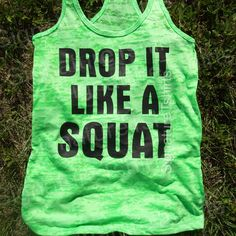 Drop It Like a Squat Workout Tank top Womens by signaturetshirts, $22.00