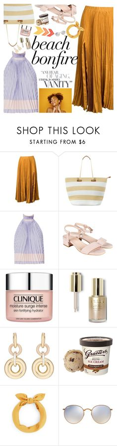 """""""Untitled #2412"""" by anarita11 ❤ liked on Polyvore featuring Kaelen, Phase Eight, Adam Selman, Clinique, Stila, SPINELLI KILCOLLIN and Ray-Ban"""