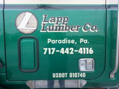 Forest management Lapp Lumber Co of PA Call 717-442-4116