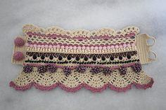 Beaded crochet bracelet Beige Pink bracelet Lace by angelicadelic Beaded crochet bracelet Beige Pink bracelet Lace by angelicadelic Crochet Wrist Warmers, Crochet Gloves, Thread Crochet, Crochet Jacket, Cute Crochet, Beautiful Crochet, Knit Crochet, Beaded Crochet, Crochet Jewelry Patterns