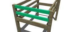 Step 4 for Free Woodworking Plans to Build a Toddler Sized Low Loft Bunk