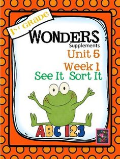 If you are already using or you are new to the Wonders Reading Program (2014 edition), this 79 page packet is for you. This packet will help you teach the skills in Unit 5 Week 1 of 6. You'll have help with weekly lesson planning, printables for centers or word work activities, anchor charts, essential question posters, vocabulary and spelling practice, and much, much more.
