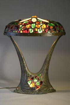 "cgmfindings:  ""  Austrian Chunk Jewel Lamp c. 1910  """