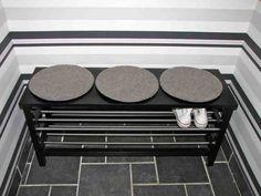 tjusig bench with shoe storage