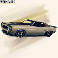 Z06 Camaro. Drawing by A.H. Wennevold, Norway