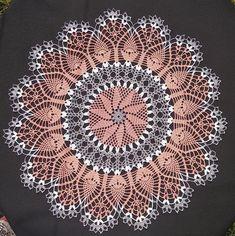 Crochet Doily Patterns, Crochet Doilies, Sunflower Home Decor, Crochet Ripple Blanket, Crochet Tablecloth, Snowflake Pattern, Peach, Bling, Handmade