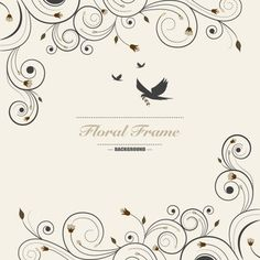 Fundo floral do frame do vintage