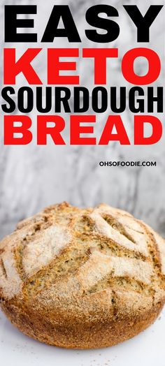 This easy keto sourdough bread recipe that is gluten-free and tastes amazing is THE BEST. You cant go wrong with this keto bread with only grams of net carbs. Ketogenic Recipes, Low Carb Recipes, Diet Recipes, Cooking Recipes, Healthy Recipes, Gluten Free Low Carb Bread Recipe, Easy Keto Bread Recipe, Ketogenic Diet, Baguette