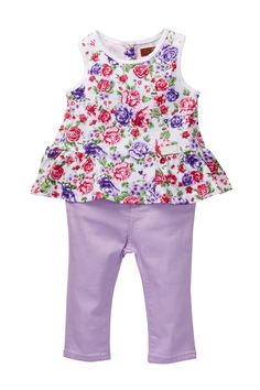 7 For All Mankind   Floral Top & Jean 2-Piece Set (Baby Girls 0-9M)   Nordstrom Rack