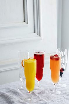 A make-your-own mimosa bar, now on the #AnthroBlog #Recipe #Cocktail
