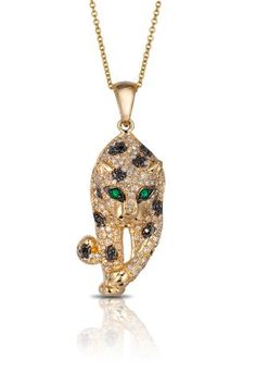 Signature 14K Gold Diamond & Emerald Pendant, .79 TCW