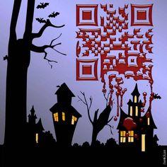 QR Code per la festa di Halloween realizzato da Inescan - - QR Code for Hallonween by Inescan