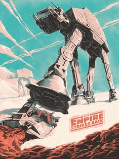 The Empire Strikes Back Poster by Juan Esteban Rodríguez #FredericCla