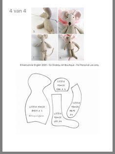 Animal Sewing Patterns, Sewing Patterns Free, Doll Patterns, Sewing Toys, Sewing Crafts, Sewing Projects, Sewing Stuffed Animals, Stuffed Toys Patterns, Felt Dolls