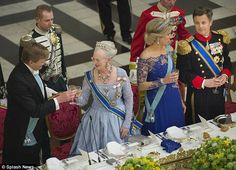 Glamorous gathering: Queen Margrethe, Queen Maxima, King Willem-Alexander and Crown Prince...