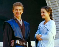 Anakin Skywalker and Padme Amidala.