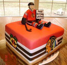 Blackhawks Birthday Cake I would love this!! #Blackhawks