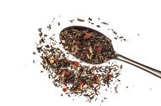 """""""Some Like It Hot (And Cold!)"""" A blend of chilli and mint, this unusual combination will tease the taste buds with a blast of hot and cold.  Please feel free to use this image but please credit mdtea or mdteashop.co.uk and use the link http://mdteashop.co.uk/collections/teas/products/some-like-it-hot-and-cold"""