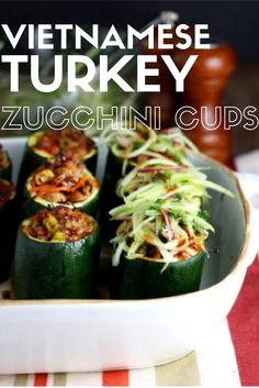 Did you know that Canada's Food Guide recommends lean meats such as turkey as part of a healthy diet? Make it easy to incorporate more turkey into your diet! Visit www.canadianturkey.ca to find recipes for turkey breakfasts, lunches, dinners or even snacks - like this delicious recipe for Vietnamese Turkey Zucchini Cups!