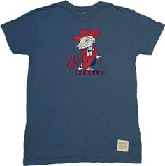 Ole Miss Vintage Colonel Reb Retro Brand T-Shirt College Shirts b8538f12b