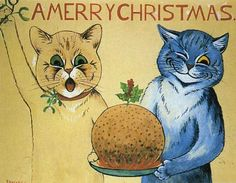 Louis Wain ~ Merry Christmas Canvas Print