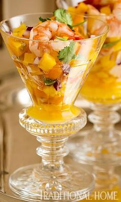 Saint-Tropez-inspired Shrimp Ceviche with mangos - Traditional Home ® / Photo: John Bessler