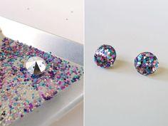 Thanks, I Made It : DIY Glitter Earrings
