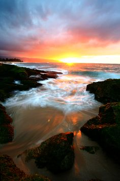Oahu Island Sunset, Hawaii